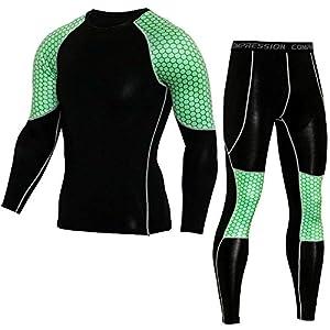 Herren Trainingsanzug Jogging Anzug Sportanzug Funktions Hausanzug Schnell Trocknend Tracksuit Fitnessanzug Kompression…