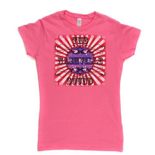 The Nashville Sound Womens Fitted T-shirt Rosa