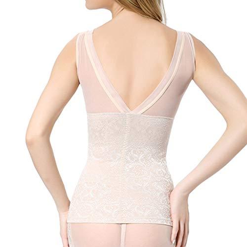KonJin Damen Bauchweg Top Figurformendes Shapewear Unterhemd Body Shaper Kontrolle dünnes Bauch-Korsett mit hohen Taille Unterwäsche Shapewear Hose