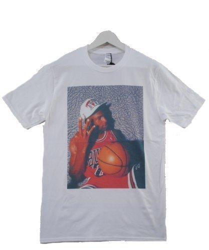 Actual FACT Michael Jordan 3 Finger weiß Rundhals T-Shirt - Weiß, S (Jordan 5 Shirt)