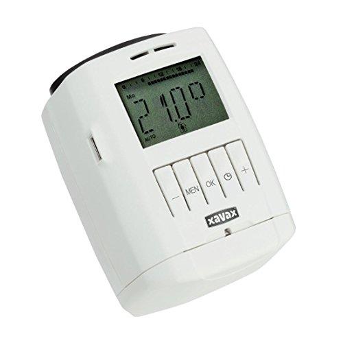 Xavax Heizkörperthermostat Regler (Individuelle Heiz- und Absenkprogramme, Zeitgesteuerte Raumtemperatur, Geräuscharm) weiß