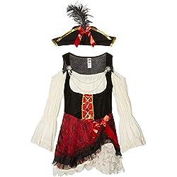 Smiffy's Disfraz de pirata con sombrero y vestido (23281S)