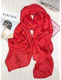 CRL Automne et Hiver Foulard Femme Imitation Soie Serviette Soleil Garde  Foulard châle Printemps et en 72c4dd4d30d