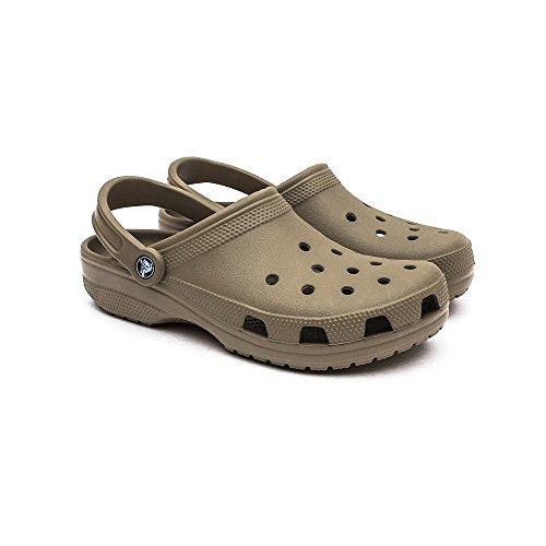 Crocs Classic Sabot U, Hommes de Pointure Marron/vert kaki