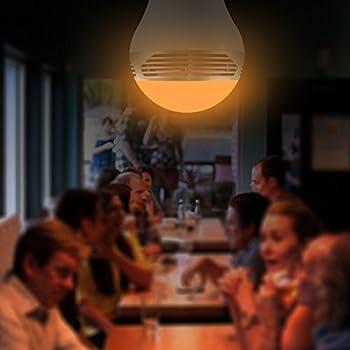 Magichue Neu Farbige Leuchtmittel Sunset Smart Led Bluetooth Lampe Dimmbar Sonnenuntergang E27 Und E26 16 Mio Farben Fuer Android Und Ios (6w Farben Lampe+3w Speaker) 3