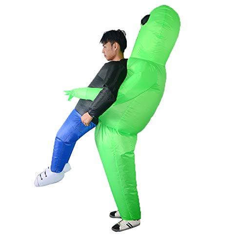 Junge Kostüm Alien - TIKENBST Halloween Ghost Man Aufblasbare Kleidung Alien ET Requisiten Aufblasbare Kleidung Walking Show Lustige Kostüme