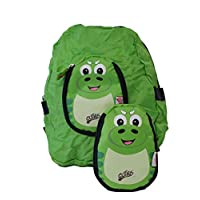 Cuties and Pals Kids Soft Foldable Backpack P-Rex The Dinasaur | Childrens Rucksack | Child