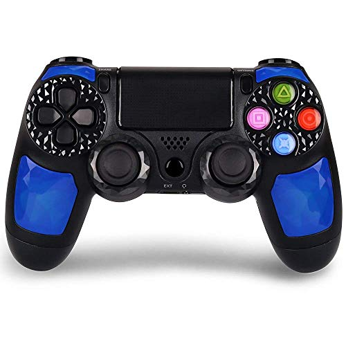 KINGEAR Wireless Controller for PS4, Pro Controller for Playstation 4 with Dual Vibration (Blau)