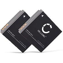 2x CELLONIC® Batería premium para Canon Legria Mini, Canon Vixia Mini, Canon IXUS 220 HS IXUS 230 HS, IXUS 255 HS, IXUS 130, IXUS 117 HS, IXUS 115 HS, IXUS 110 IS, IXUS 70, Canon PowerShot ELPH 300 HS, PowerShot SD30 (750mAh) NB-4L bateria de repuesto, pila reemplazo, sustitución