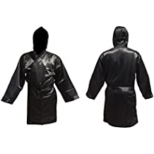 Boxeo Manto negro tamaño mayor adulto Abrigo para boxeo kickboxing promoción