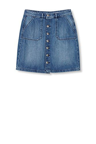 edc by ESPRIT Damen Rock Blau (Blue Medium Wash 902)