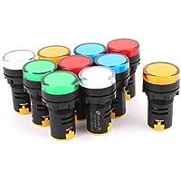 sourcingmap® 10 Pz AC/DC 220V Colorato LED Pilot Signal Frecce