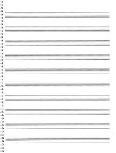 Passantino Music Papers: No. 74, 10 Stave, Size 9x12