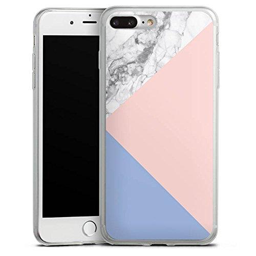 Apple iPhone X Slim Case Silikon Hülle Schutzhülle Pantone Pastell Marmor Silikon Slim Case transparent