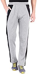 2Go Active Gear USA Mens Track Pants (EC-TPM-04Greymel/BlackS)