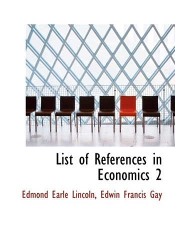 List of References in Economics 2