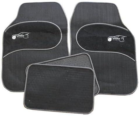 Mazda MX-3 MX-5 MX-6 Universal grauer Saum Schwarz Teppich Tuch Auto Matten 4 stück Set