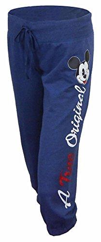 Cuff Capri (Disney Mickey Mouse Wink French Terry Exclusive Capri Pants Navy Medium)