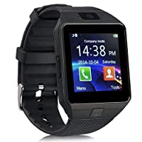 Smart Watch Silicone Band For Android & iOS,Black - DZ09