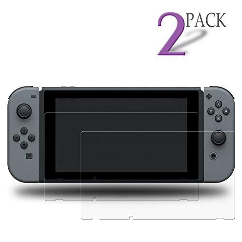 Le Destin Nintendo Switch Panzerglas Schutzfolie,2 Stück Schutzfolie für Nintendo Switch,9H Hartglas,Anti Öl,Kratzen und Fingerabdrücke Blasenfrei,Transparente Displayschutzfolie für Nintendo Switch