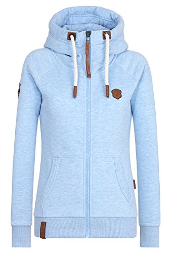 Naketano Female Zipped Jacket Brazzo Amazing blue Melange, M