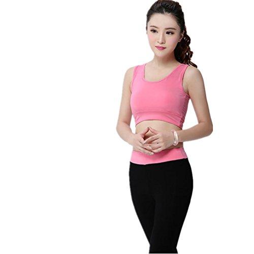 shiyuan Femme Sport Soutien-gorge de sport de yoga de fitness stretch pour femme Rose