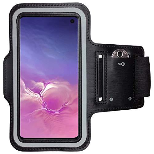 CoverKingz Armtasche für Samsung Galaxy S10 Sportarmband mit Schlüsselfach, Laufarmband, Sport Handyhülle, Handy Armband Schwarz (Mp3-player Galaxy Samsung S)
