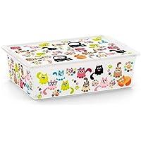 Carrefour 8416000 Caja de almacenaje Rectangular De plástico - Cajas de almacenaje (Caja de almacenaje