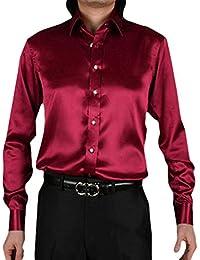 989f2e36eddb1 Hombre Retro Camisa Un Solo Pecho Elegante Tops Solapa Cardigan Camisa  Casual Elasticidad Suave Cómoda Shirt
