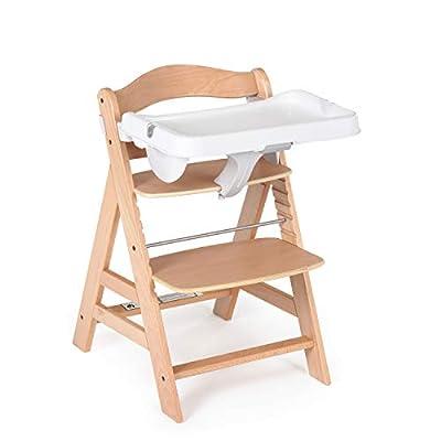 Hauck Alpha Bouncer 2 en 1 Hearts - Hamaquita para bebes, sistema de arnés de 3 puntos, tejido suave transpirable, adaptable a trona alta de madera Hauck