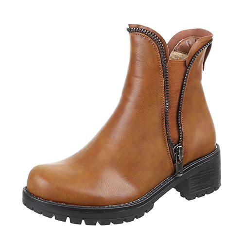 Chaussures, bottines 53006–pa Marron - Camel