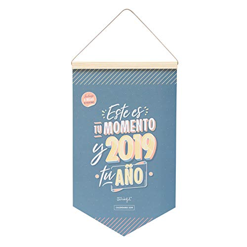 Mr. Wonderful - Calendario de mesa línea sketch 2019