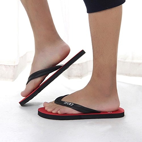 Holeider Classic Drucken Unisex-Erwachsene Sandalen - Sport Flip-Flops Rot