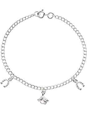 SL-Silver Armband Armkette Pferd Hufeisen Glück Länge: 19 cm 925 Silber