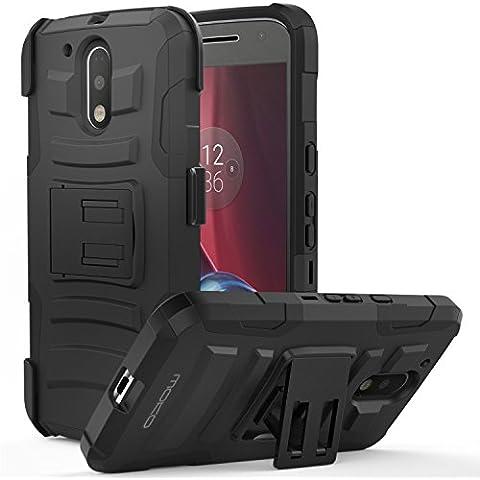 MoKo Moto G4 / G4 Plus Funda - Cubierta Superior Resistente con Pata de cabra, Último Protección de Caiga y Absorbente de impactos para Motorola Moto G 4th Generación / G4 Plus 5.5 Pulgadas 2016, Negro