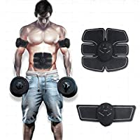 AIMERKUP Portable Electric Ab Simulator, Recharge Muscle Toner Trainer,6 Modes, Power Fitness Muscle Training Gear, Abdominal Work Out Equipment for Men Women (ABS)