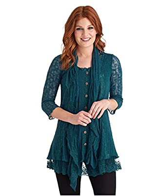Joe Browns Women's Mock Lace Cardigan And Scarf