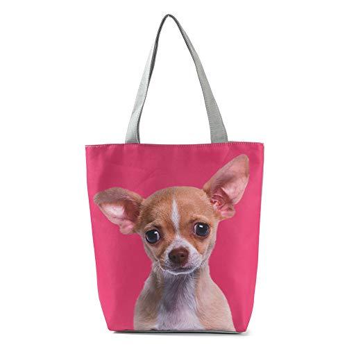 MoGist Strandtasche Damen Shopper Schultertasche Niedliches Hunde Katzen Muster Reise Einkaufstasche Tragetasche (Style3)