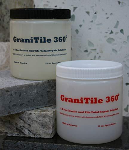 Il granito 360 20 once Knife-Grade. per per Hard-to-Hold pietre come marmo/all\'istante Riparazioni Chips, crepe, rotto e pezzi mancanti. Copre 875 mq in. Corrispondenza Colore di pietra
