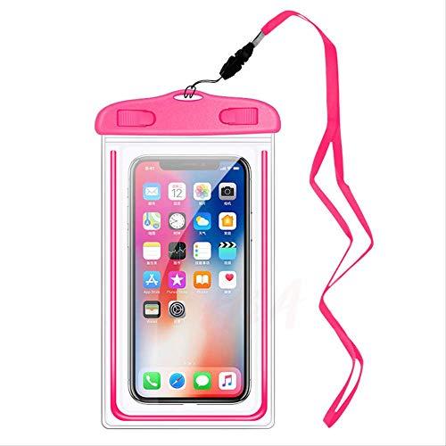 Rentlooncn Wasserdichter Handy-Fall für iPhone X Xs maximales Xr 8 7 klares PVC versiegelte Unterwasserzellen-intelligentes Telefon-trockene Beutel-Abdeckung für Samsung-Rosa (Rosa Gehäuse Für Iphone 4s)