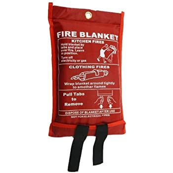 Ideal for Kitchen Home Office 1.2 x 1.2 m Easy to Install /& Quick to Deploy in Emergency Fire Blanket SENRISE Quick Release Safety Fire Blanket in Case with Loops