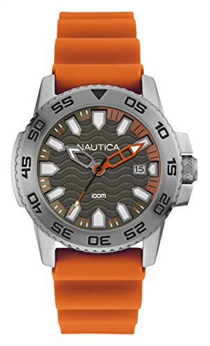 Nautica orologio analogico quarzo uomo con cinturino in silicone nai12529g