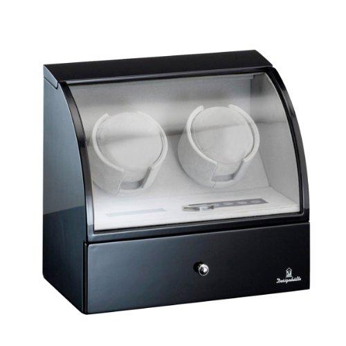 Designhütte Uhrenbeweger Basel 2 LCD Schwarz 70005/48