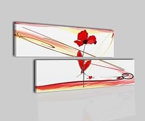 Tableau moderne peintures fleur blanc rouge chambre de lit salon - Tableau cuisine rouge ...