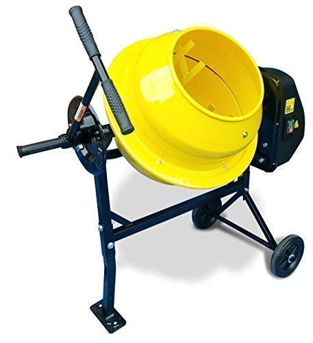 Baylola Cement Mixer cm46 240v Powerful 300w 35rpm Electric Portable Cement, Mortar, Concrete Mixer. 46 Litre Capacity Drum. Portable, Easy to Load.