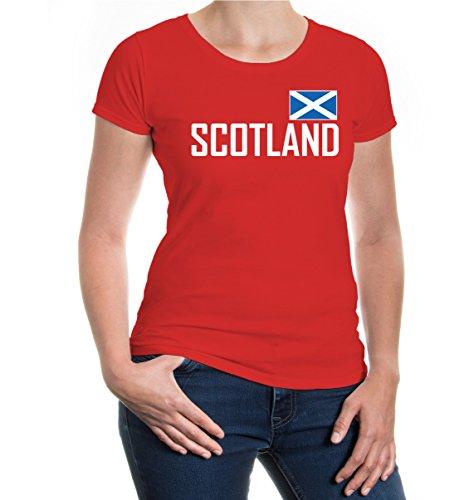 buXsbaum® Girlie T-Shirt Schottland Red-