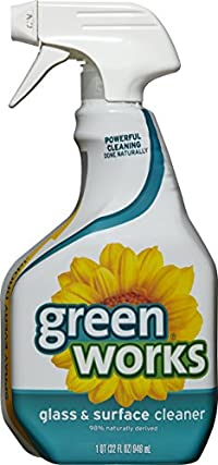 Green Works Glass and Surface Cleaner Spray, 32 Oz (Pack of 3)
