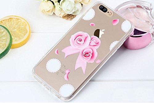 iPhone 7 Plus Case , Bonice iPhone 7 Plus Cover,Bonice Colorato Ultra Thin Morbido TPU Silicone Rubber Clear Trasparente Back Creativo Case –pulcino 02 model 4