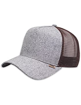 DJINNS - Rhomb (brown/grey) - High Fitted Trucker Cap