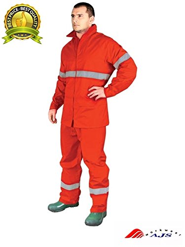 Traje de lluvia Rainer de pantalón y chaqueta, talla XXXL, naranja